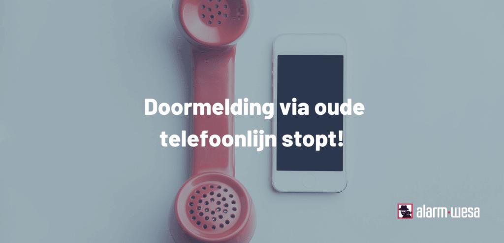 Oude telefoonlijn